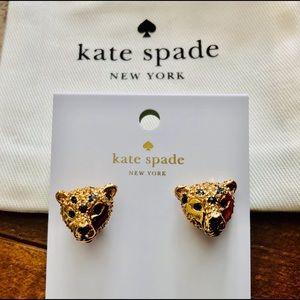 NWT Kate Spade Run Wild Cheetah Earrings